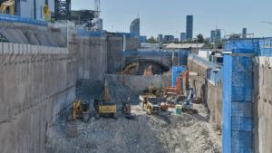 Slide 3 of 42 - Station box excavation at Boggo Road