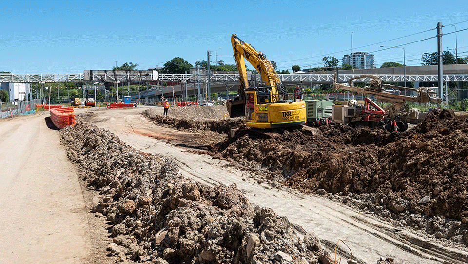 Excavation at the Northern Portal site - April 2021