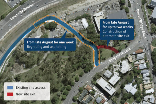 Location of site access changes at Victoria Park.