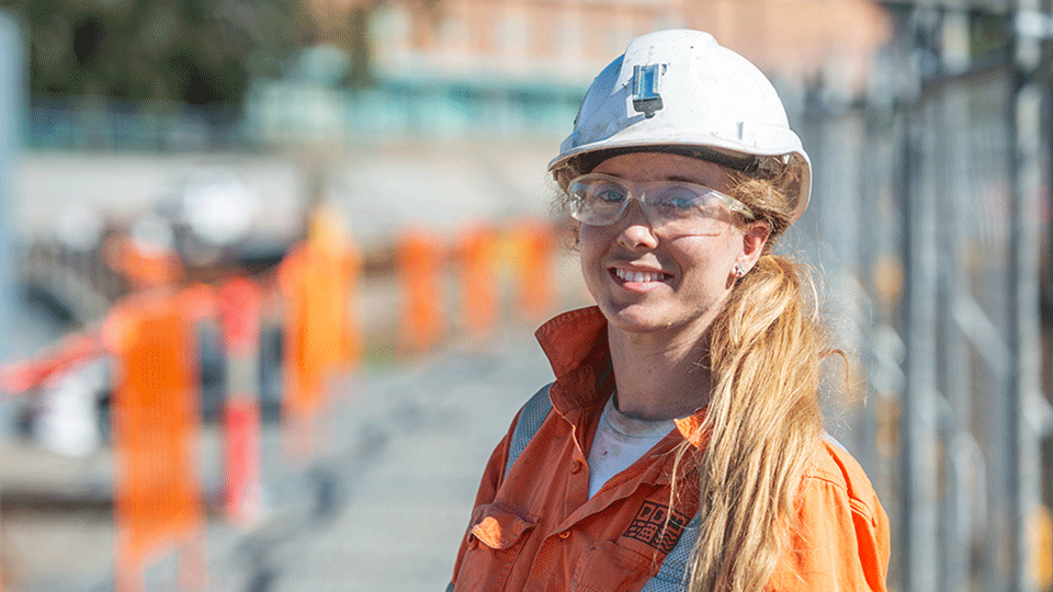 Geotechnial engineer on-site at northern portal