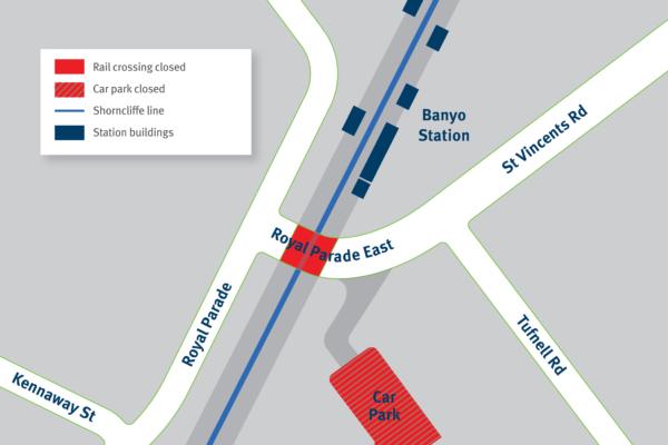 Road and car park closure – Royal Parade East, Banyo