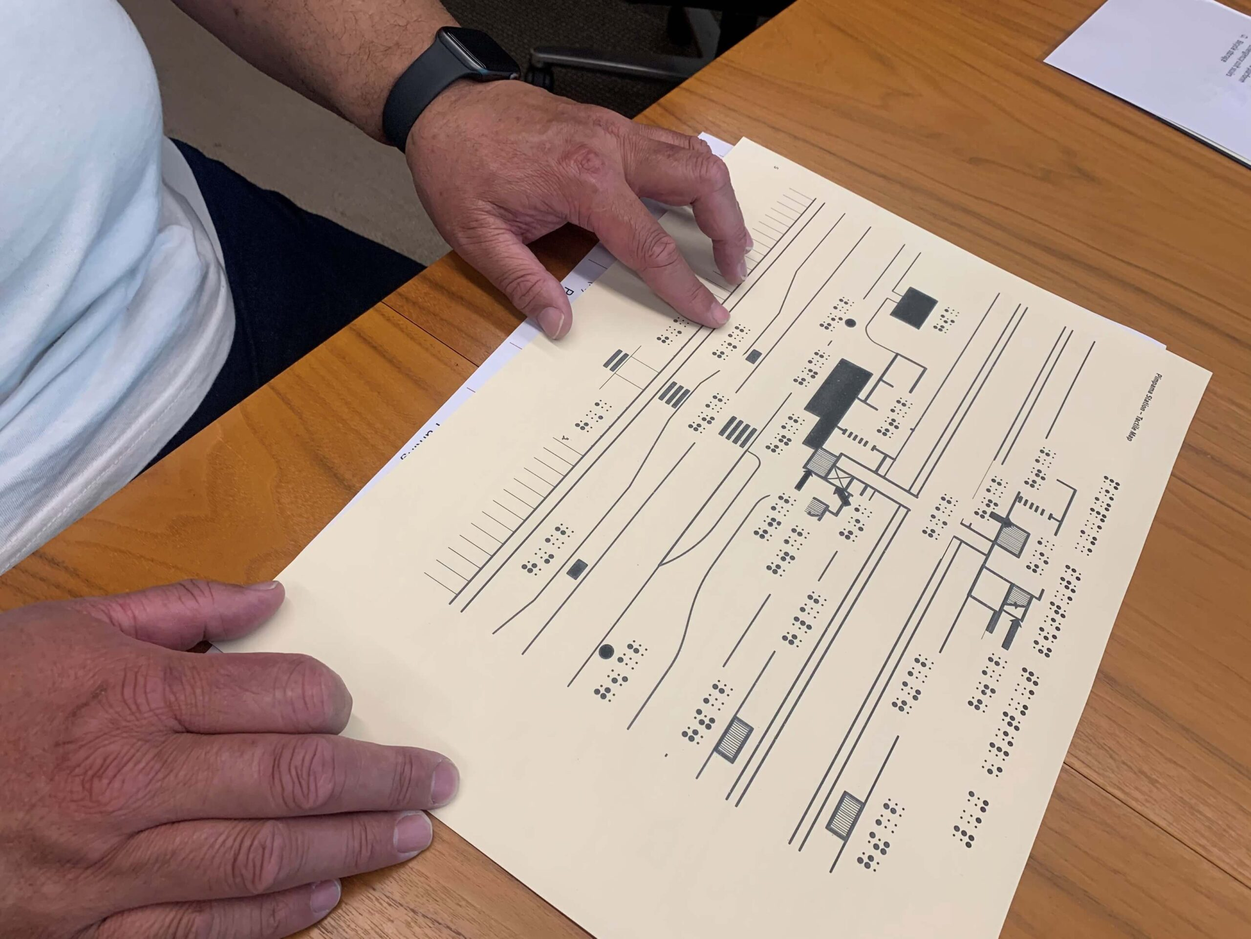 : Gold Coast Infill Stations engagement with 2D braille and tactile map of Pimpama station