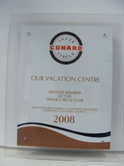 Cunard Cruise Line Bronze Member of the Inner Circle 2008