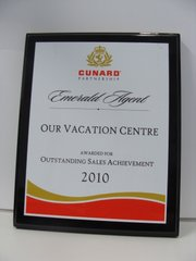 Cunard Cruise Line Outstanding Sales Achievements 2010