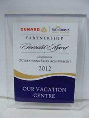 Cunard Cruise Line Outstanding Sales Achievements 2012