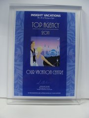 Insight Vacations Top Agency 2011