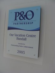 P&O Cruises Outstanding Sales Achievement 2005