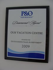 P&O Cruises Outstanding Sales Achievement 2009