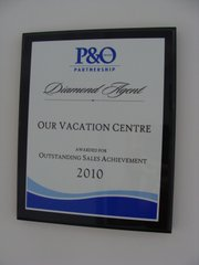 P&O Cruises Outstanding Sales Achievement 2010