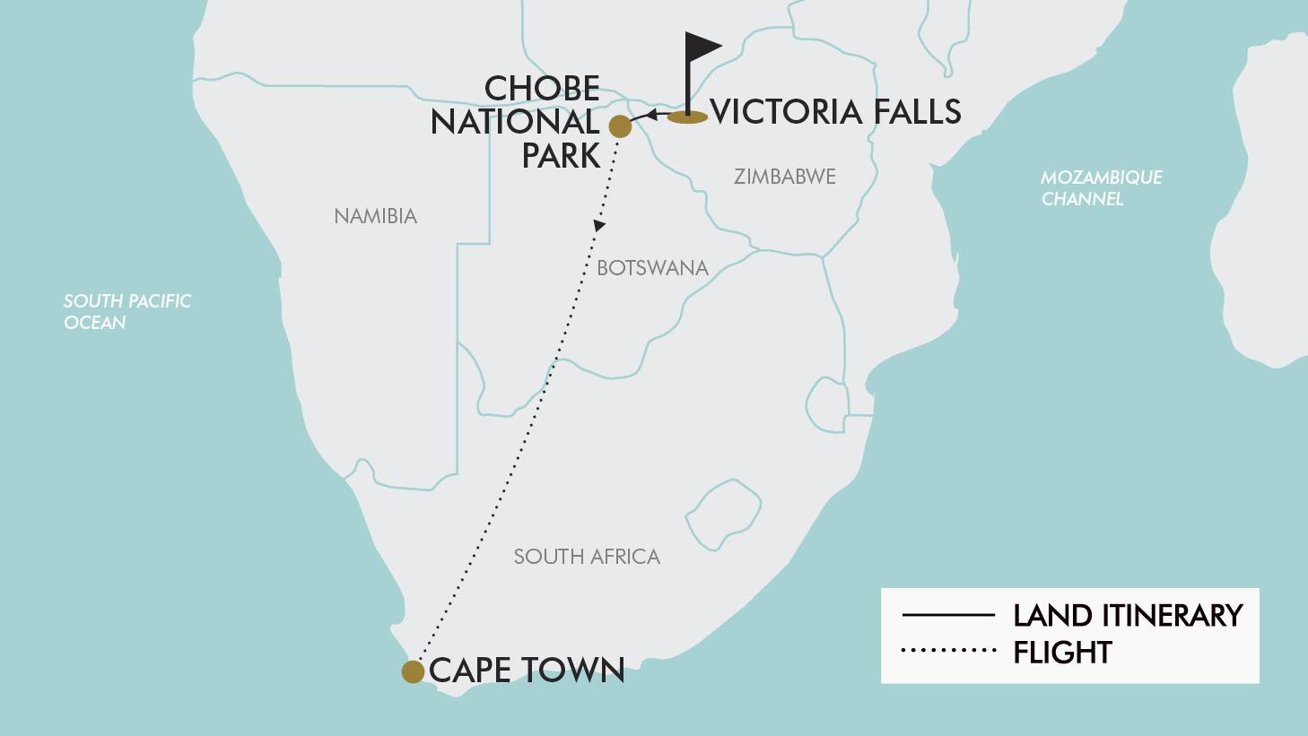Zambezi River On Map Of Africa.12 Day Wild Africa Tripadeal