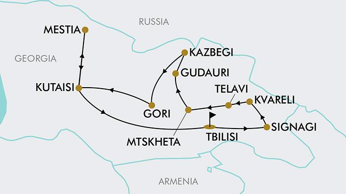 Georgia Eastern Europe Map.15 Day Discover Georgia Tripadeal