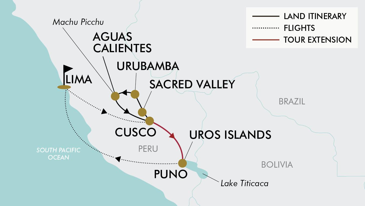 Aguas Calientes Peru Map.12 Day Spirit Of Peru Tripadeal