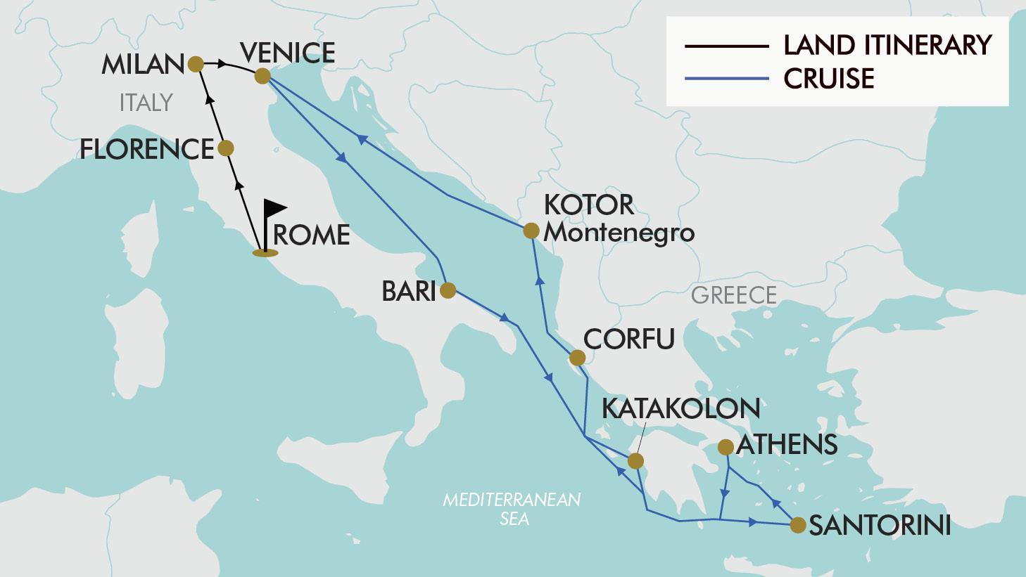 17 Day 2 For 1 Italy & Greece | TripADeal