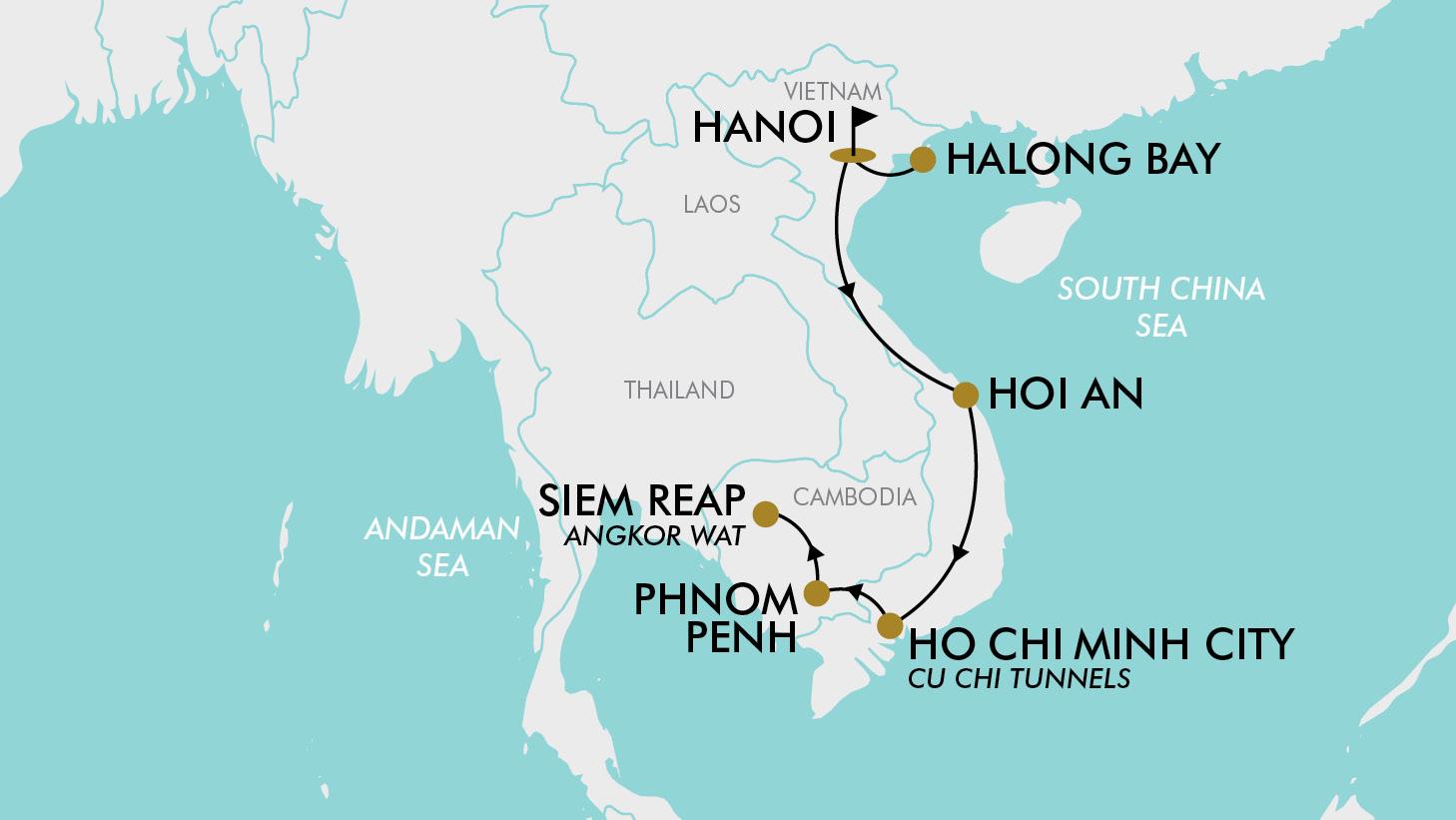 15 Day 2 for 1 Vietnam & Cambodia | TripADeal