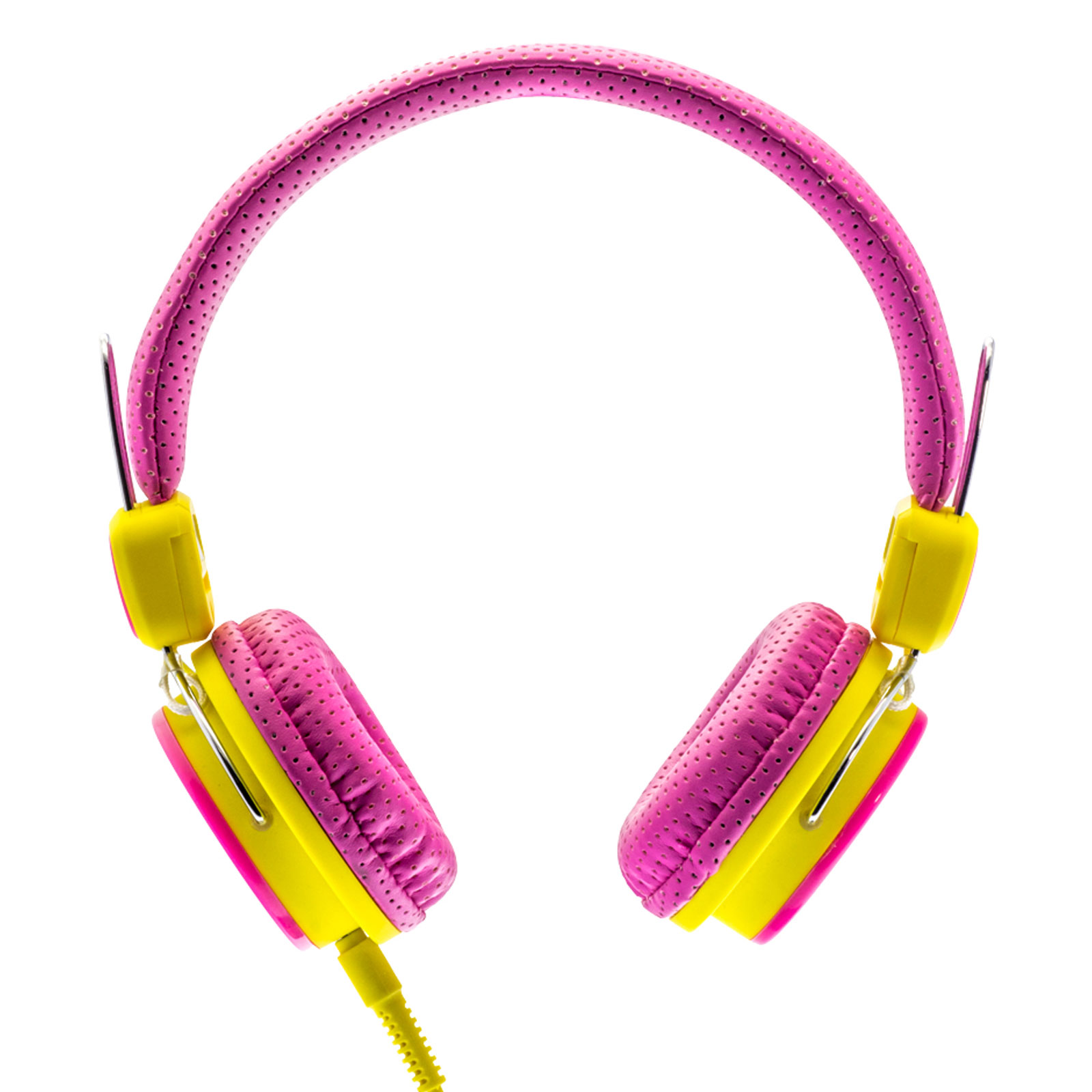 ebce50d6e5a Moki Kids Safe Headphones Pink-Yellow Limited Volume Gaming Music Child  Proof