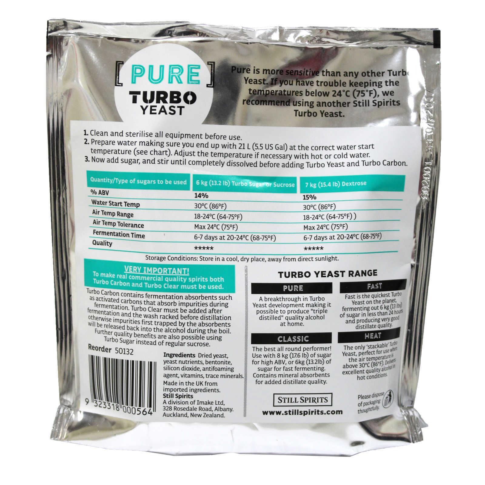 still spirits triple distilled turbo yeast instructions