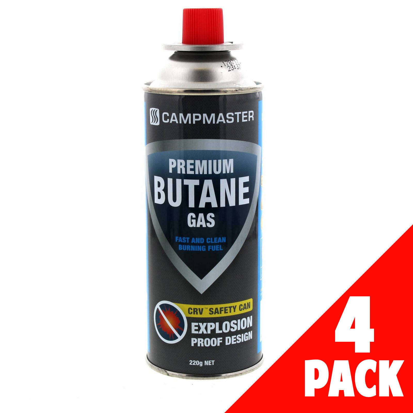 Details about Cartridge Premium Butane 220g 4 Pack Explosion Proof Cans  Safety Flame Control