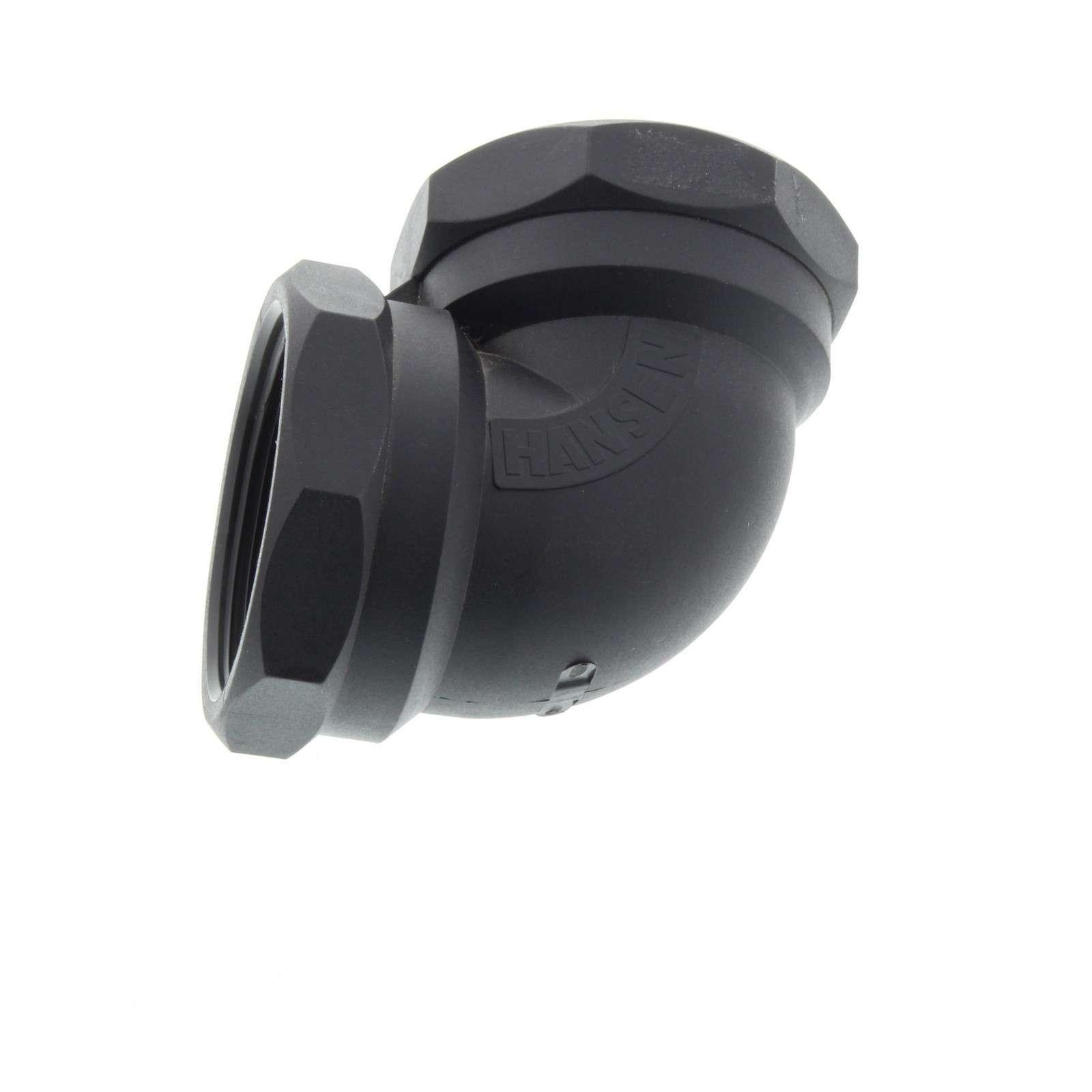 elbow 50mm female 90 degree bsp plumbing irrigation poly fitting water hansen 9414940002047 ebay. Black Bedroom Furniture Sets. Home Design Ideas