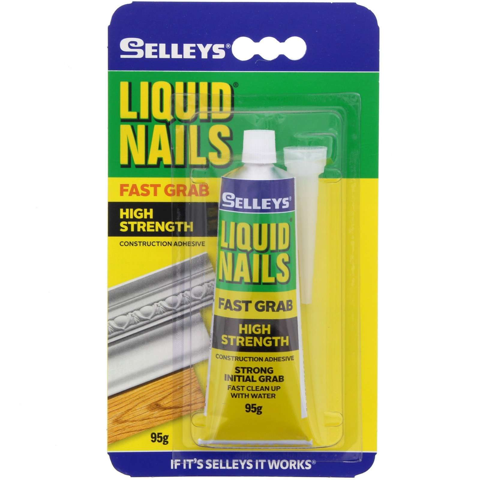 Liquid Nails Glue Fast Grab High Strength Construction Adhesive Selleys 95g