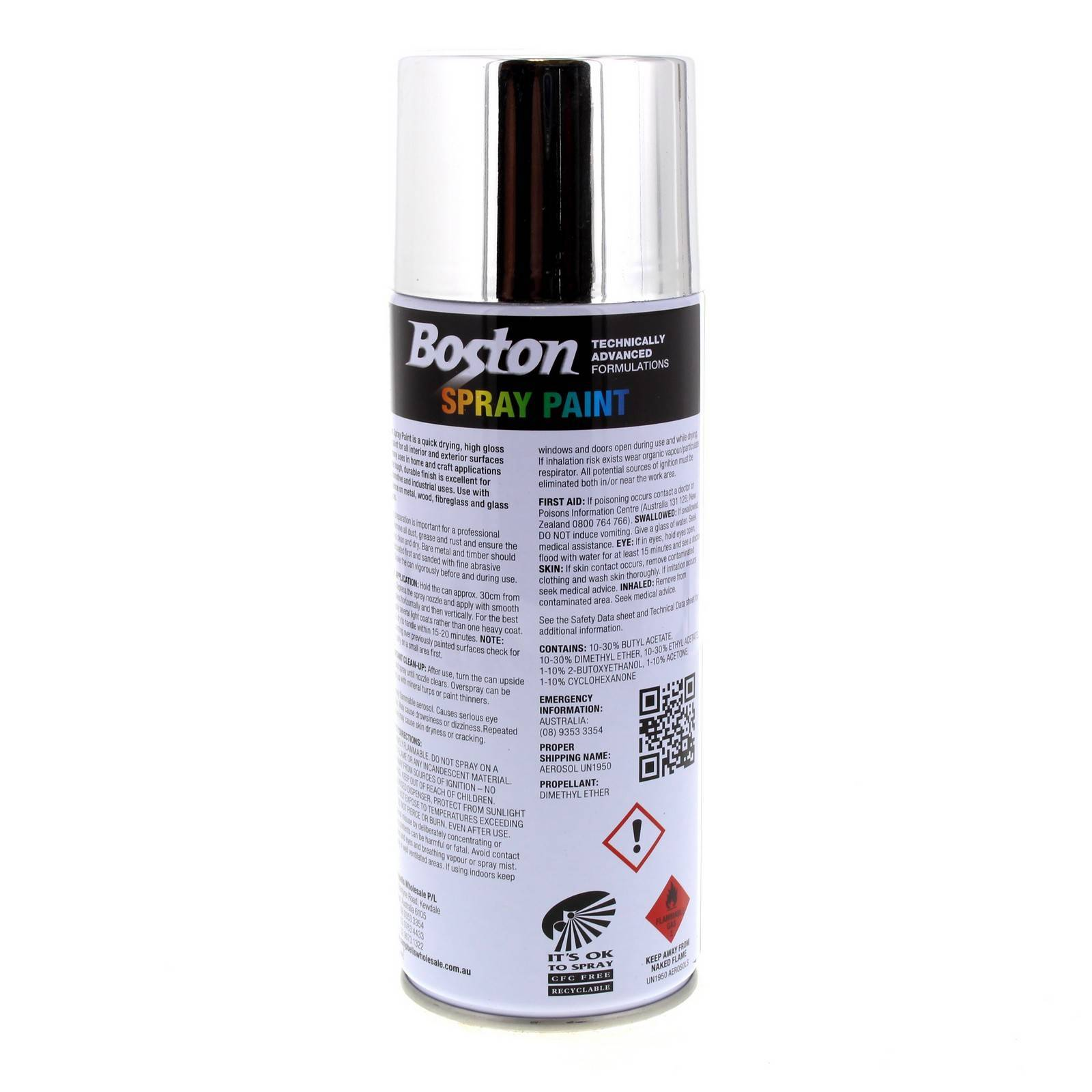 Details about Bright Chrome Spray Paint Can 250g Boston Quick Drying Rust  Prevention