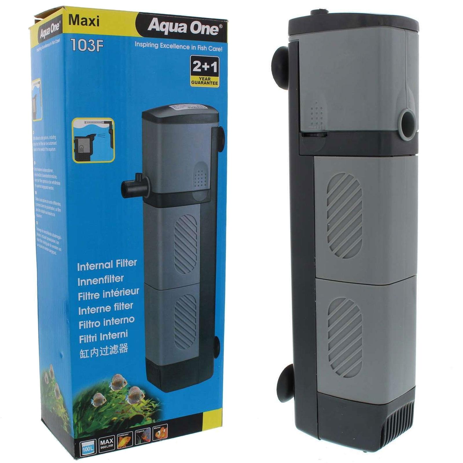 Aqua one maxi 103f internal aquarium power filter 960l h for Internal fish tank filter