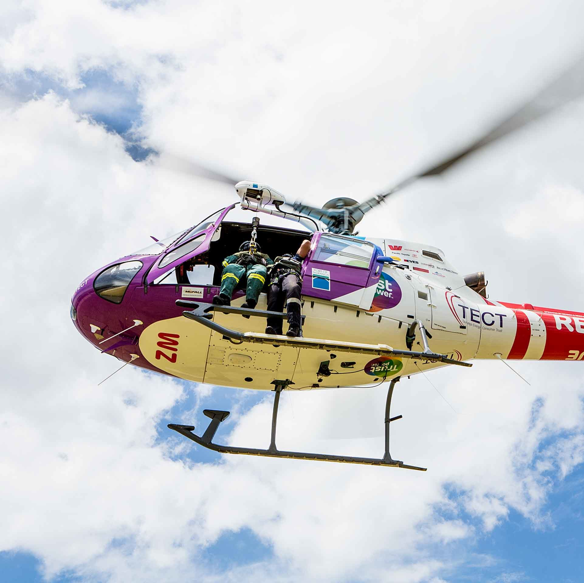 Support the Trustpower TECT Rescue Helicopter