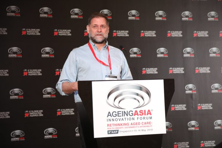 Expert geriatrician, Dr. Bill Thomas, presenting at the Ageing Asia Innovation Forum.