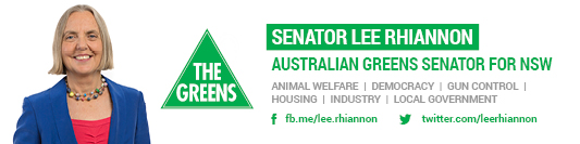 Office of Senator Lee Rhiannon Poster