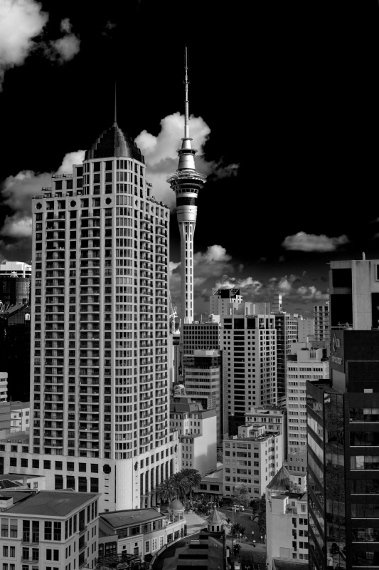 Auckland City View 1 B&W (May 2018).jpg
