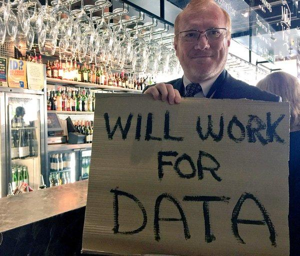 "Peter Moore from @awscloud Will Work For Data, or beer ;) <a href=""https://twitter.com/search/%23WeAreCKAN"" target=""_blank"">#WeAreCKAN</a> <a href=""https://twitter.com/search/%23awssummit"" target=""_blank"">#awssummit</a> <a href=""https://twitter.com/search/%23CBR"" target=""_blank"">#CBR</a> <a target=""_blank"" href=""http://t.co/1pJpBFyjIv"">http://t.co/1pJpBFyjIv</a>"
