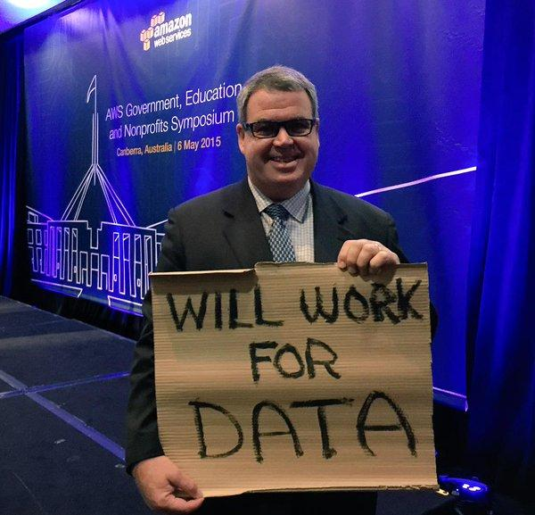"""Great sport @AusGovCTO Will Work For Data. <a href=""""https://twitter.com/search/%23WeAreCKAN"""" target=""""_blank"""">#WeAreCKAN</a> <a href=""""https://twitter.com/search/%23awssummit"""" target=""""_blank"""">#awssummit</a> <a href=""""https://twitter.com/search/%23CBR"""" target=""""_blank"""">#CBR</a> ping @piawaugh :) <a target=""""_blank"""" href=""""http://t.co/1Fal7AYP9e"""">http://t.co/1Fal7AYP9e</a>"""