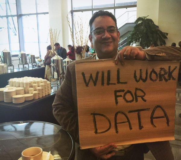"""Ibrahim from @MOICEgypt considers working for data over coffee :) <a href=""""https://twitter.com/search/%23WeAreCKAN"""" target=""""_blank"""">#WeAreCKAN</a> <a href=""""https://twitter.com/search/%23CKANcon2015"""" target=""""_blank"""">#CKANcon2015</a> <a target=""""_blank"""" href=""""http://t.co/SEr4lGmWtr"""">http://t.co/SEr4lGmWtr</a>"""