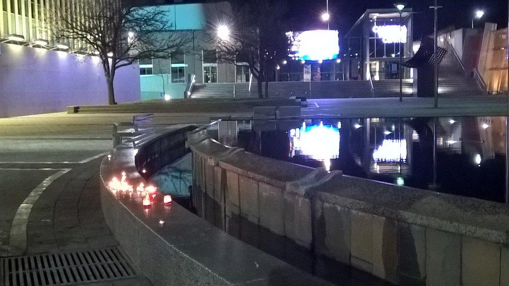 """Small candlelight vigil in <a href=""""https://twitter.com/search/%23CBR"""" target=""""_blank"""">#CBR</a> tonight. Solidarity with Orlando's LGBTIQ community from Canberra's LGBTIQ community"""
