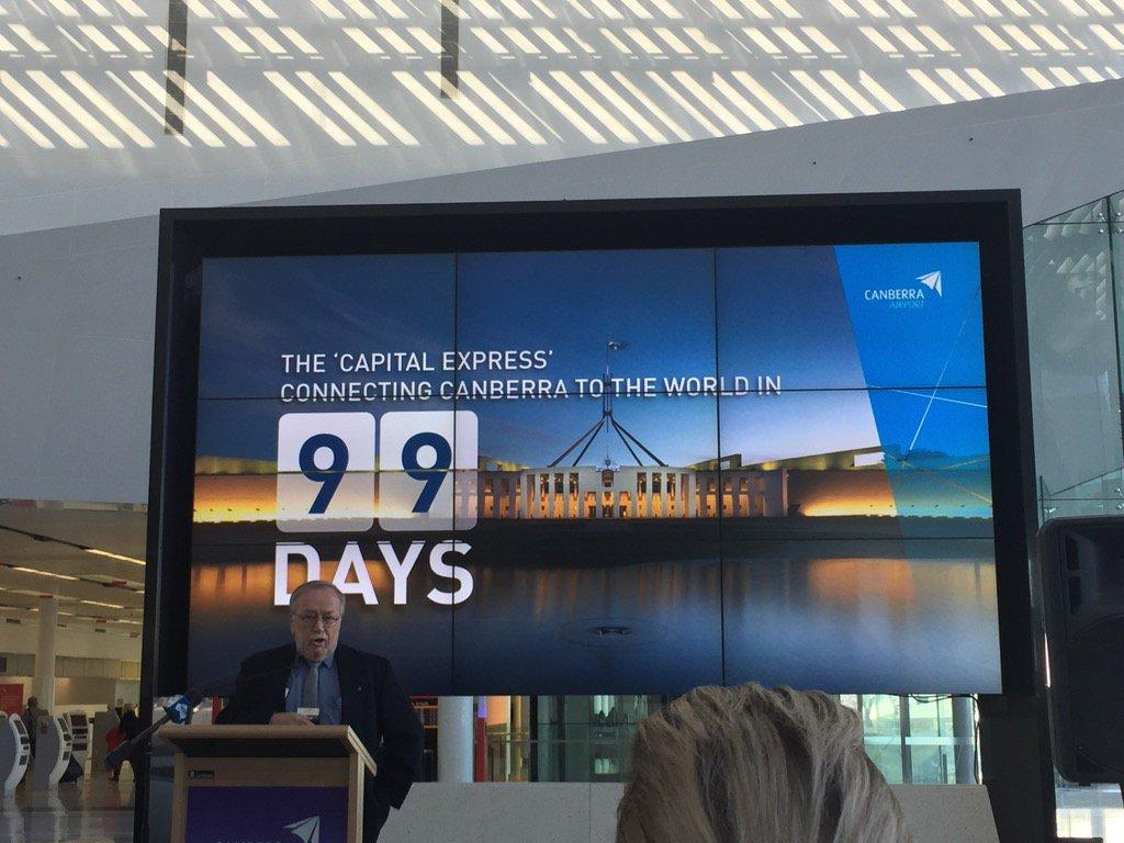 "99 days until direct flights from <a href=""https://twitter.com/search/%23CBR"" target=""_blank"">#CBR</a> to Singapore and NZ <a target=""_blank"" href=""https://t.co/anqXzmtt59"">https://t.co/anqXzmtt59</a>"