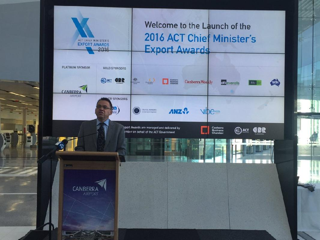 "<a href=""https://twitter.com/search/%23export"" target=""_blank"">#export</a> awards are now officially open! @chrisbourke <a href=""https://twitter.com/search/%23CBR"" target=""_blank"">#CBR</a> exports over $1.6 billion and an increase of 16.2%yoy <a target=""_blank"" href=""https://t.co/0obau0AJBd"">https://t.co/0obau0AJBd</a>"