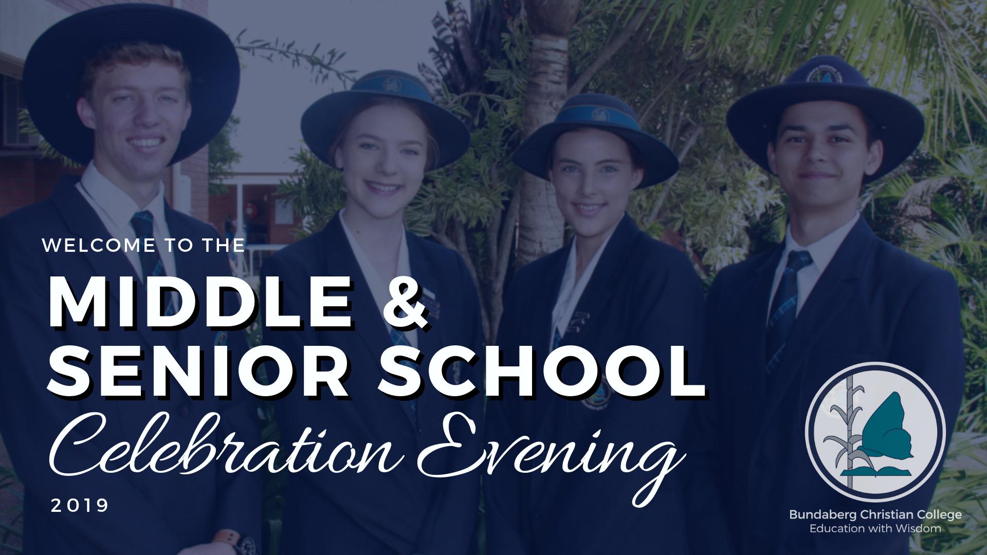 Middle Senior School Celebration Evening Ppt 1