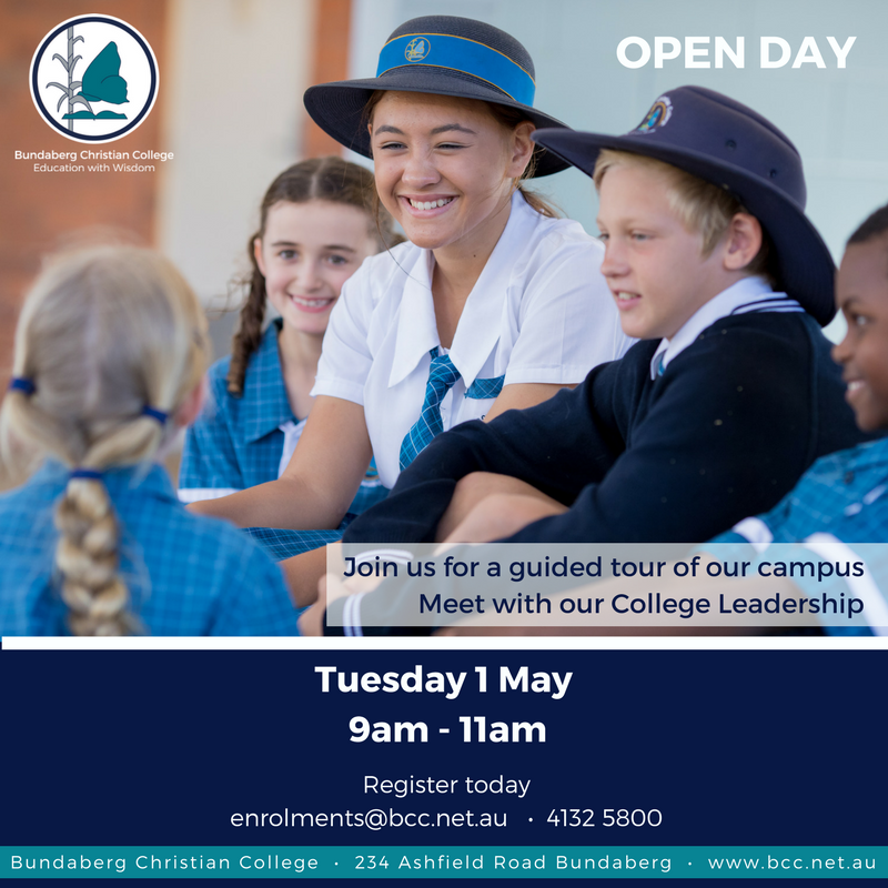 Open Day 1 May