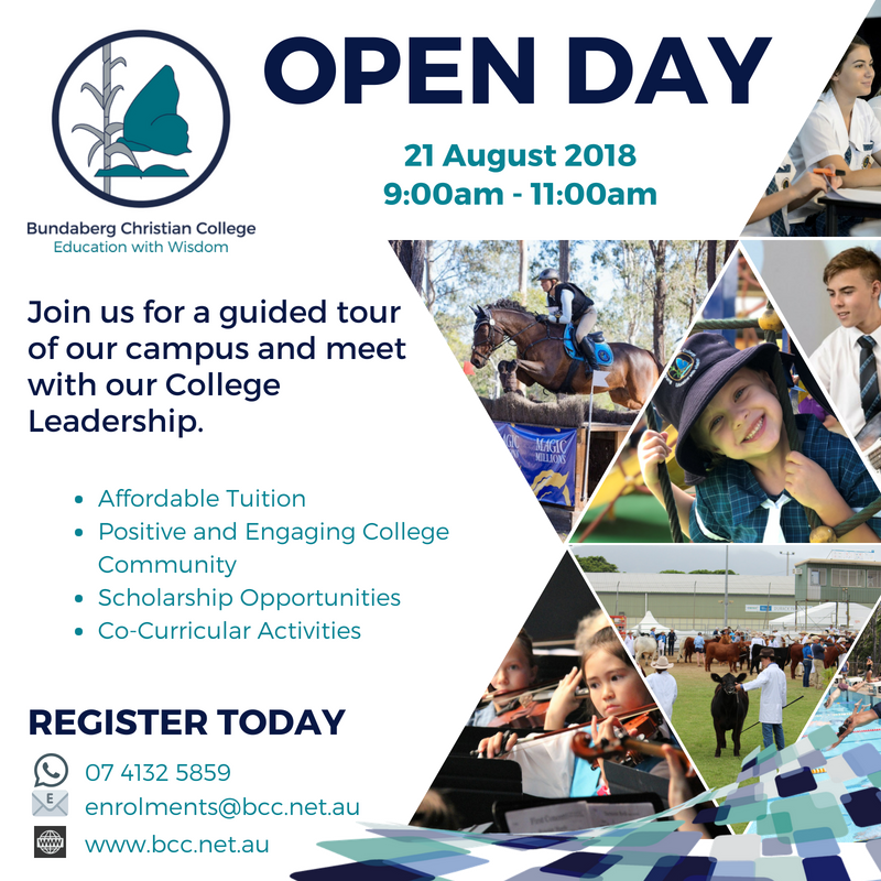 Open Day 21 Aug