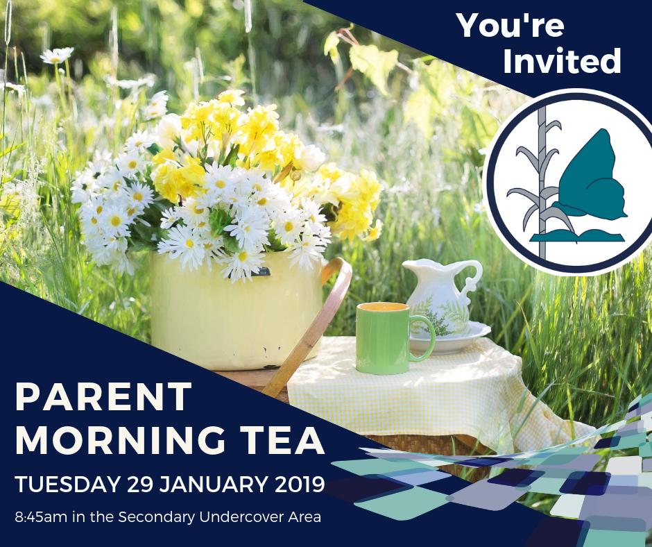 Parent Morning Tea Invitation 2019
