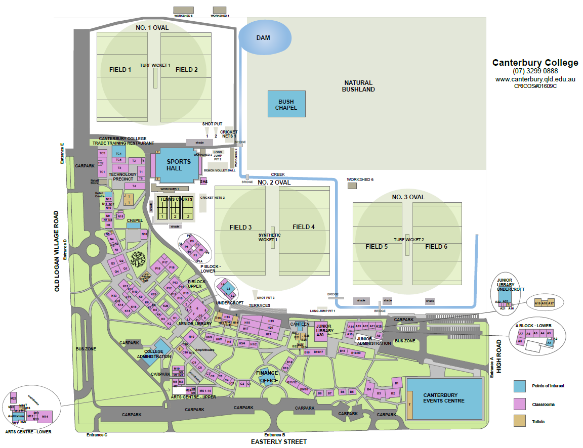 South Plains College Campus Map.Our Campus Canterbury College