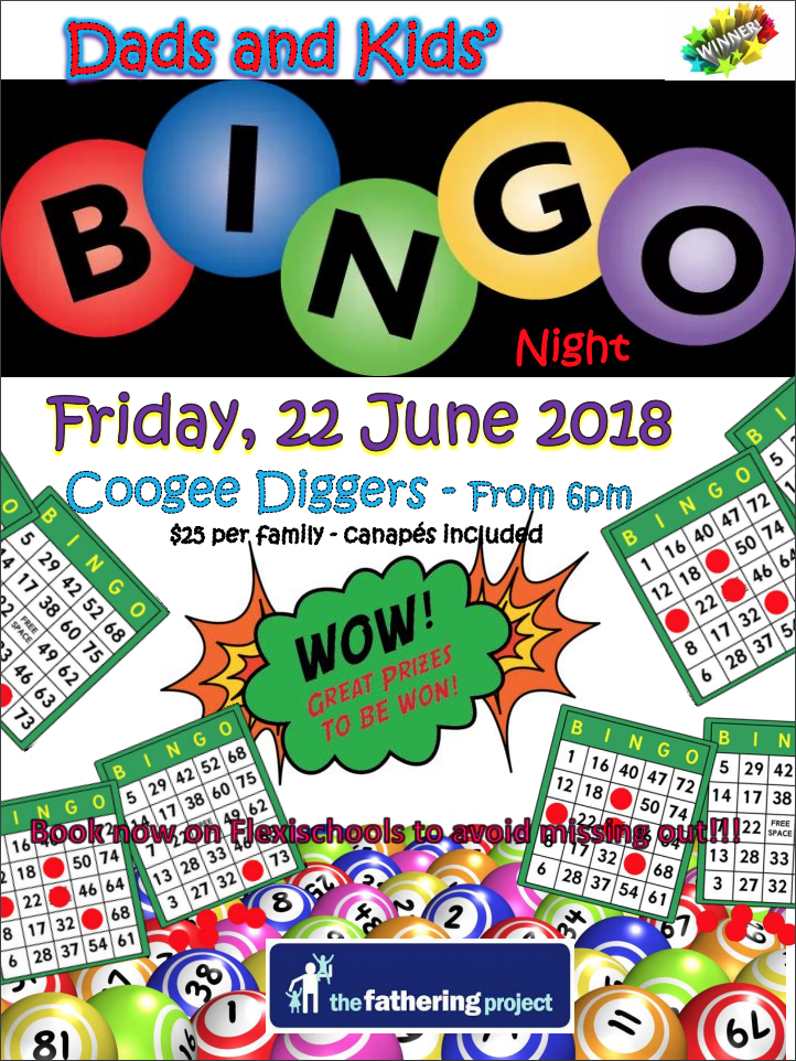 Dads & Kids Bingo Night