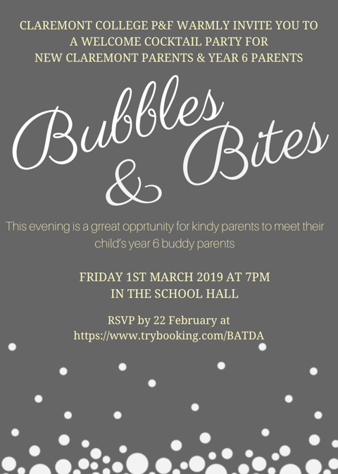 Bubbles & Bites Invitation - New Parents