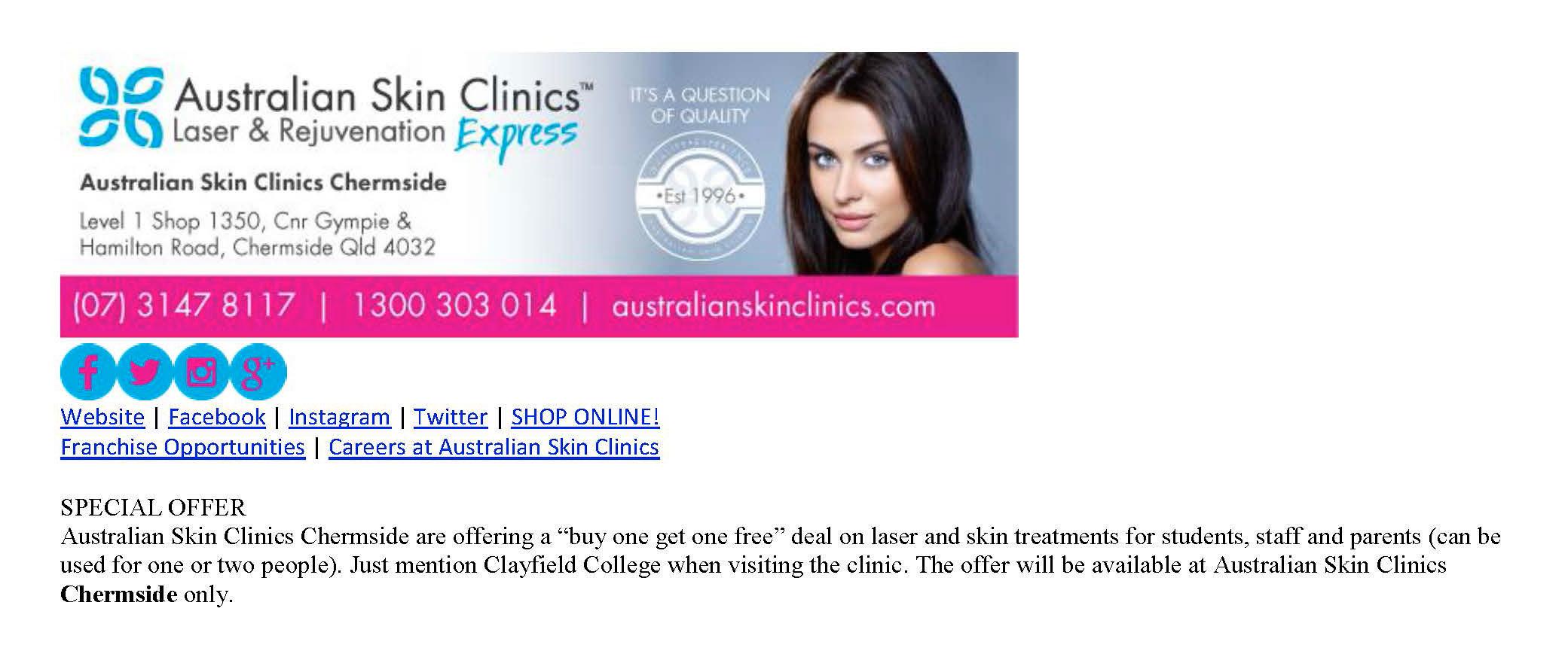 ... Newsletterbanners2 Community Australian Skin Clinics ...