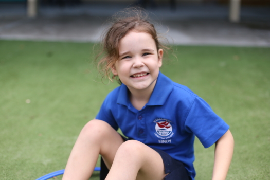 Kindy Student Outdoors