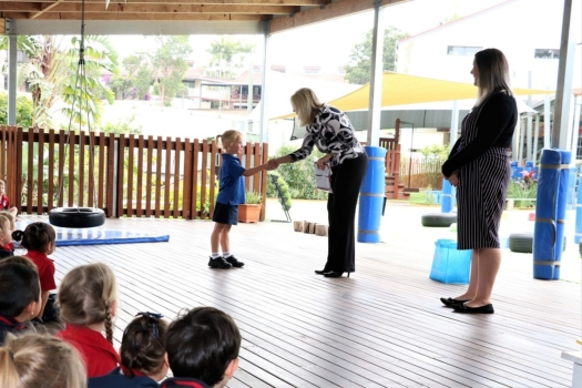Presentation Of Flags To Kindy 1