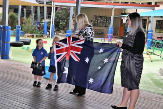 Presentation Of Flags To Kindy 7