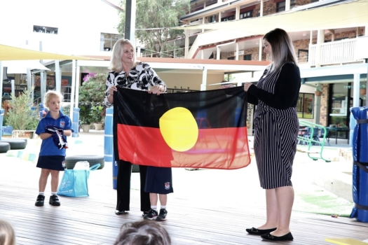 Presentation Of Flags To Kindy 9