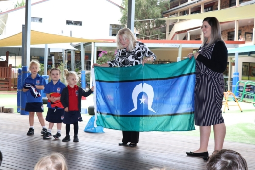 Presentation Of Flags To Kindy 11