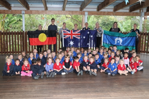 Presentation Of Flags To Kindy 16