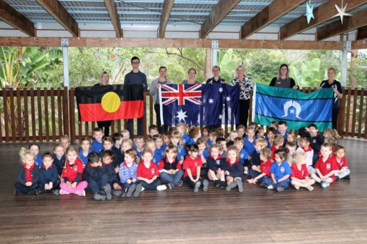 Presentation Of Flags To Kindy 18